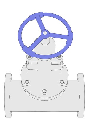 2d: 2d illustration of industrial valve