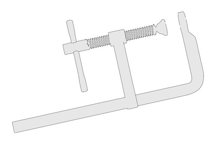 clamp: cartoon image of industrial clamp