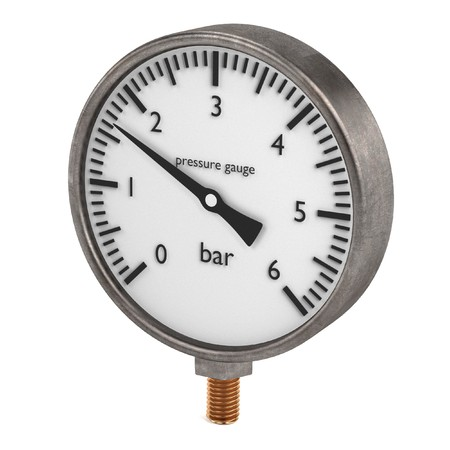 pressure gauge: 3d render of pressure gauge Stock Photo