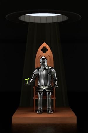 rycerz: 3d render rycerz w lochu Zdjęcie Seryjne