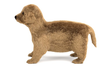 golden retriever puppy: 3d render of golden retriever puppy Stock Photo