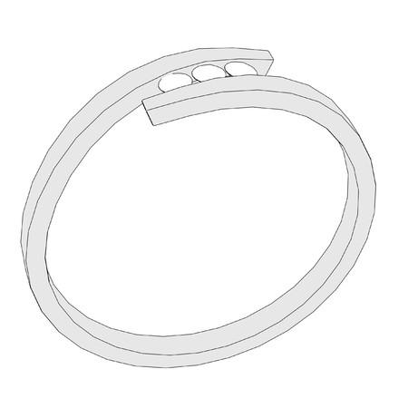 jewel box: 2d cartoon image of ring Stock Photo