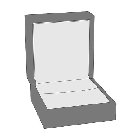 jewelry boxes: 2d cartoon image of ring Stock Photo