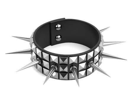 bracelet: 3d render of punk bracelet