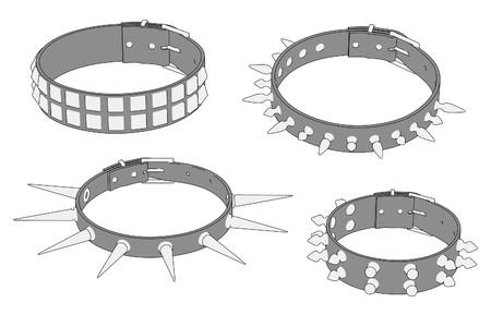 cartoon image of punk necklaces