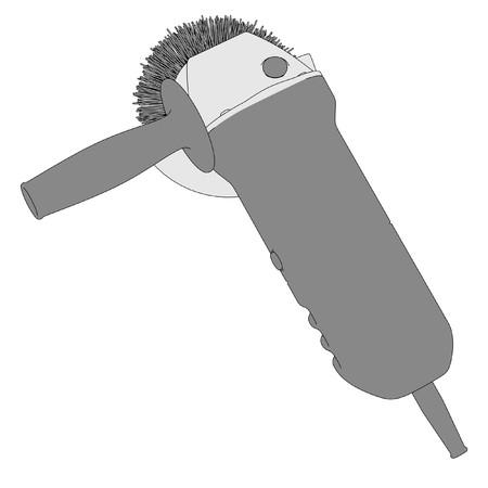 power tool: 2d cartoon image of power tool Stock Photo