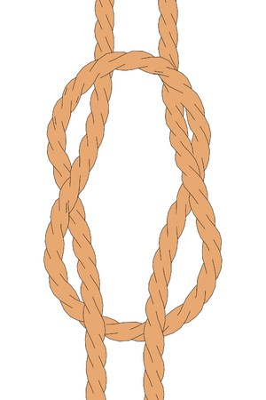 trucker: cartoon image of simple rope Stock Photo