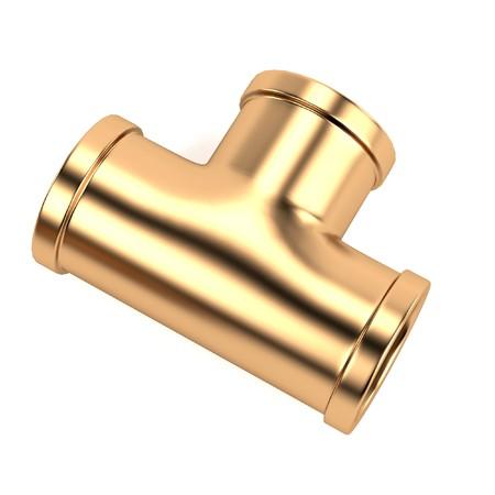 copper pipe: 3d render of plumbing pipe