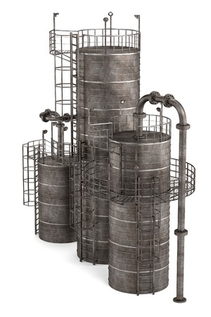 catalytic: 3d render of fluid catalytic cracker