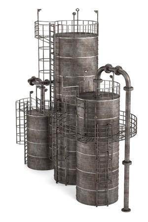 catalytic: 3d render of fluid catalytic cracker