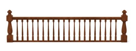 railings: 3d render of wooden railings Stock Photo