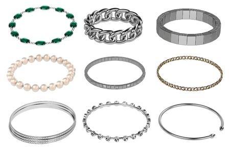 3d render of bracelets (jewelry)