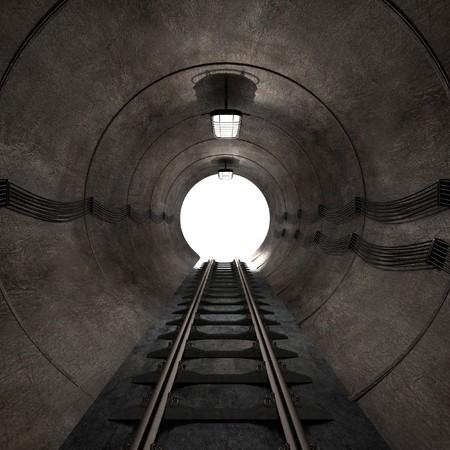 underground: 3d render of underground tunnel Stock Photo