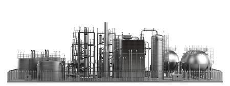 3d render de raffinerie de pétrole Banque d'images - 41091921