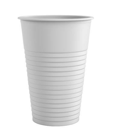 3d de la taza de plástico Foto de archivo - 41091986
