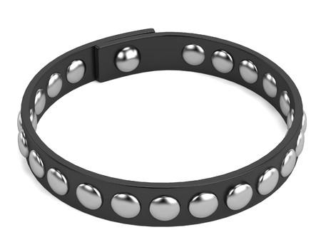 spiked: 3d render of punk bracelet