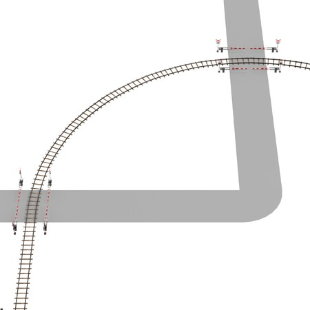 railway track: 3d render of railway track