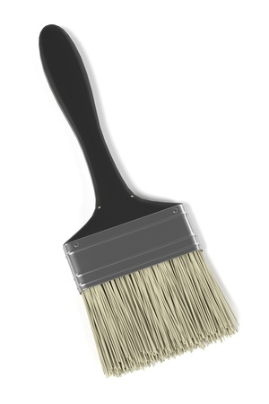 3d render of paint brush Foto de archivo