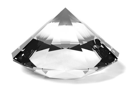 diamond cut: 3d render of diamond cut Stock Photo