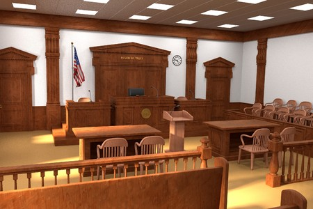 3d render of court room