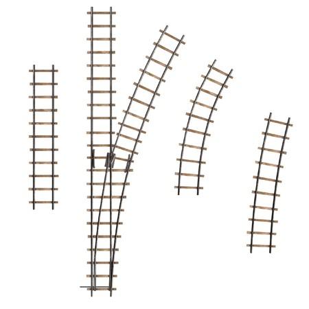 railway track: 3d render of railway track parts