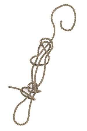 knot work: realistic 3d render of rope