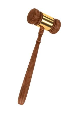 courtroom: 3d render of gavel (judge mallet)