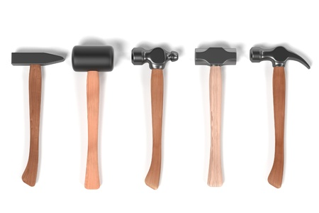 smith: 3d render of hammers set