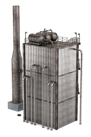 reformer: 3d render of oil refinery reformer Stock Photo