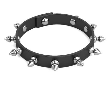 bdsm: 3d render of punk bracelet