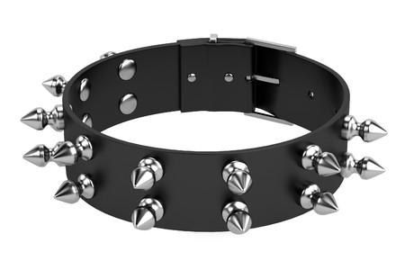 bdsm: 3d render of punk necklace