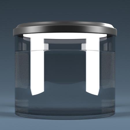 molly: 3d render of fish aquarium