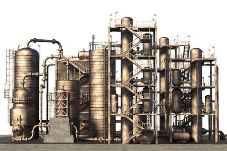 3d render of oil refinery Imagens