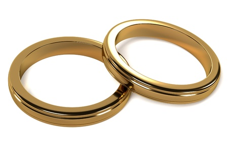 jewellry: 3d render of wedding rings
