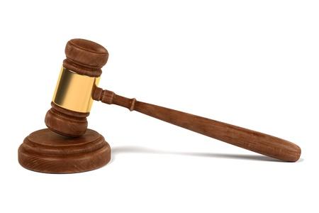 mallet: 3d render of gavel (judge mallet)