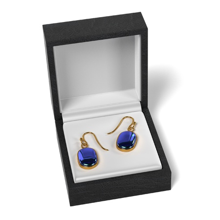 jewelry boxes: 3d render of earrings in box