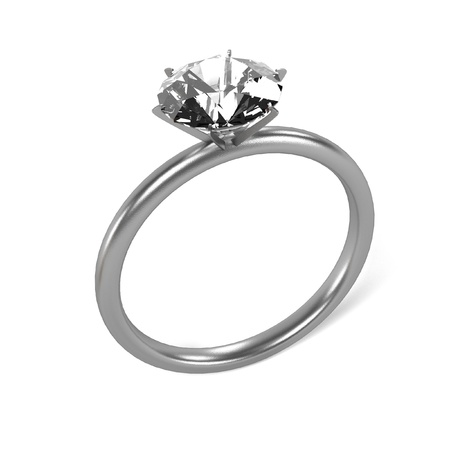 3d ring: 3d render of ring (jewel) Stock Photo