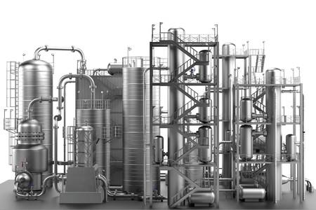 3d geef van olieraffinaderij