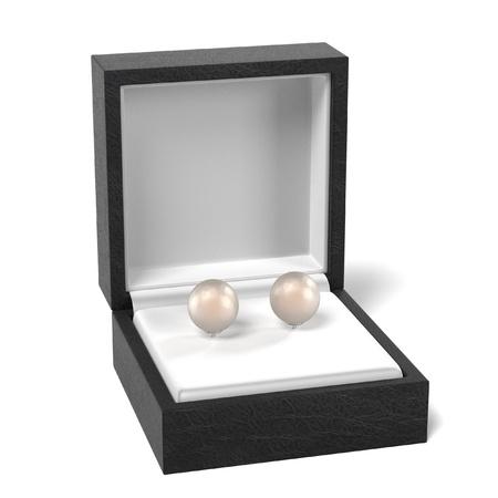 jewel box: 3d render of earrings in box