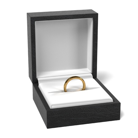 jewellry: 3d render of ring in box Stock Photo