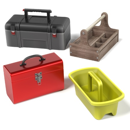 tool boxes: 3d render of tool boxes