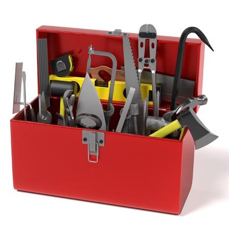 3d render of tool box Banco de Imagens
