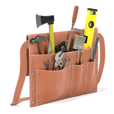 tool bag: 3d render of tool bag