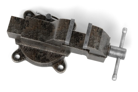 vise: 3d render of vice tool Stock Photo