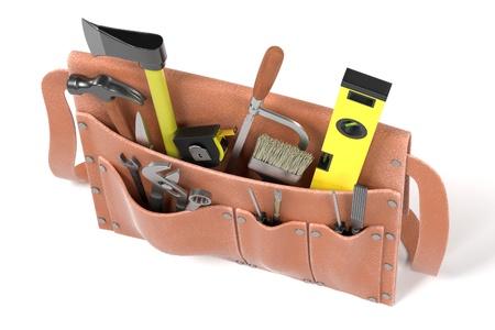 crowbar: 3d render of tool bag