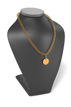 dummy: 3d render of necklace on dummy