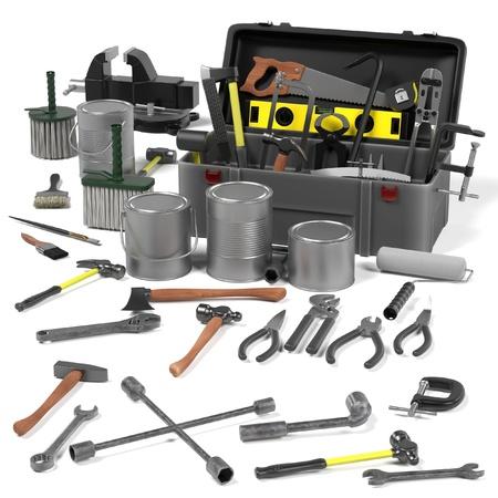 3d render of tool box Imagens