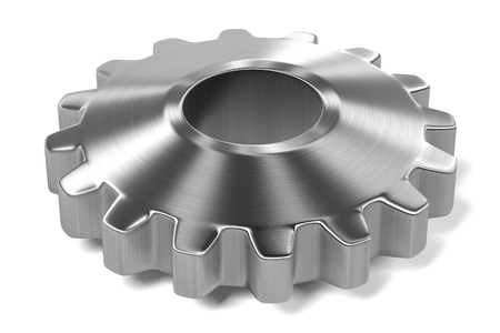 3d render of gear wheel
