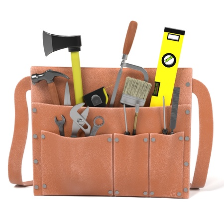 3d render of tool bag