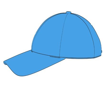 2d: 2d cartoon illustration of baseball cap